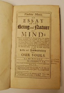 An essay of the being and nature of mind