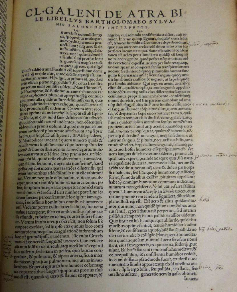 Galen, Basle 1542, history of medicine
