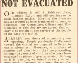 WW2 - The London City Mission has not evacuated