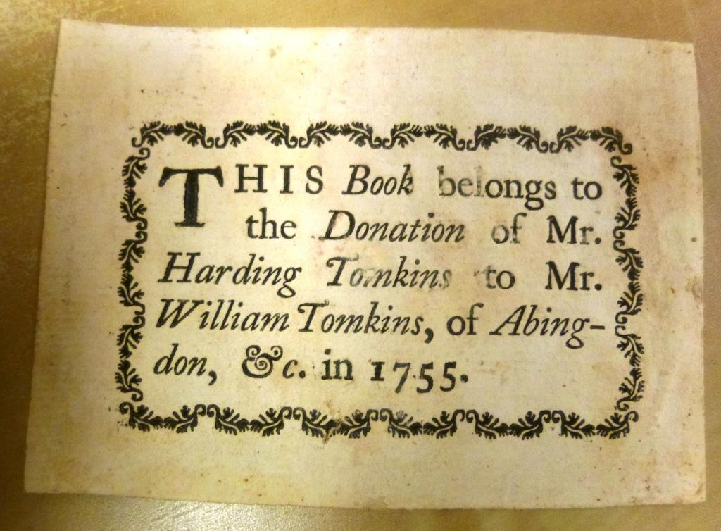 Abingdon Library Bookplate
