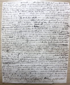 Page from Jane Attwater diary 1809