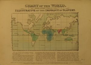 Anti-slavery map from commonplace book